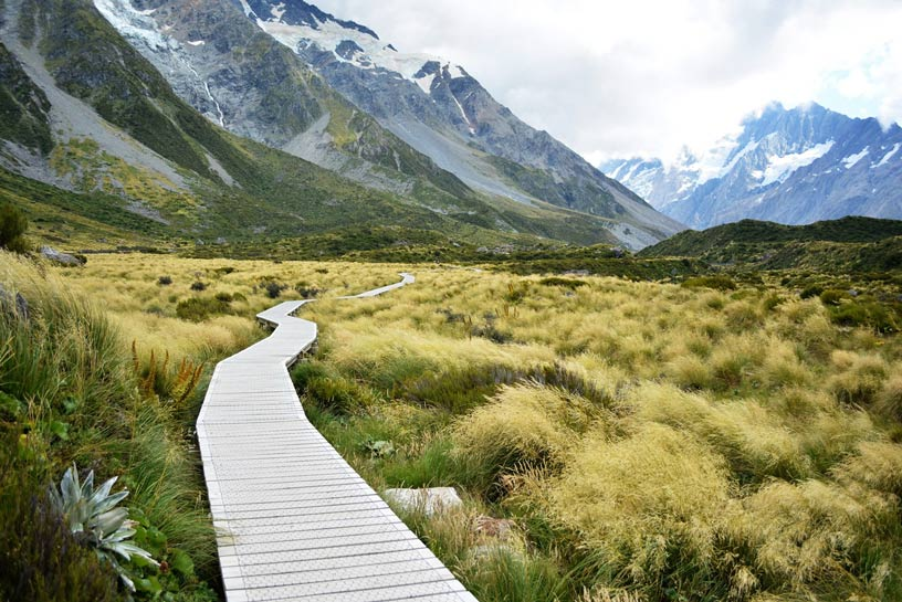 hooker valley boardwalk