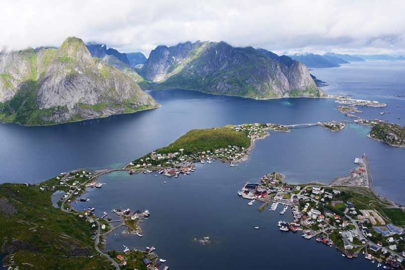 Lofoten Reine view from above