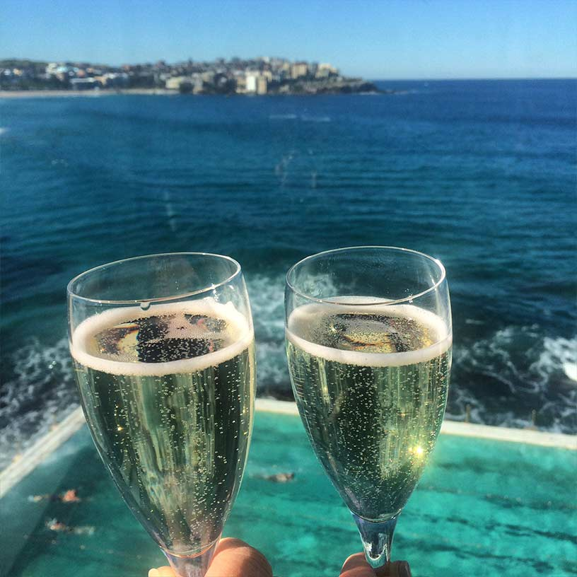 Champagne at bondi
