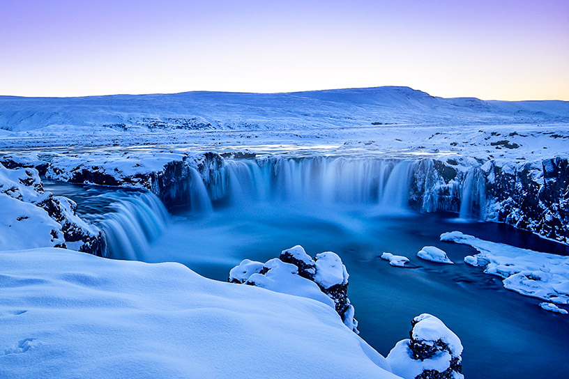 icy landscapes in iceland